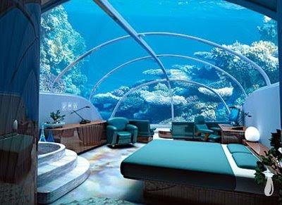 Hotel no fundo do mar