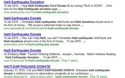 Terremoto no Haiti pode infectar seu computador