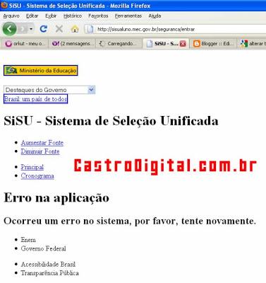 Brasil sem internet e SISU fora do ar