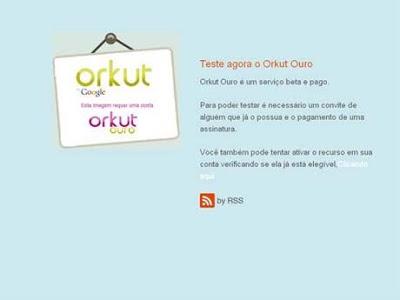 A brincadeira do Orkut Ouro