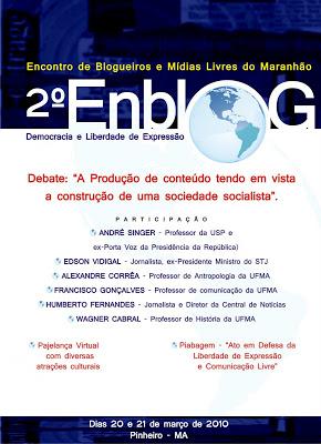 Convite para o 2ª encontro de blogueiros do Maranhão