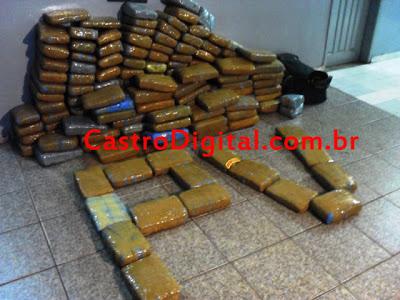 PM apreende 200 Kg de maconha prensada em Bacabal originária de Arame