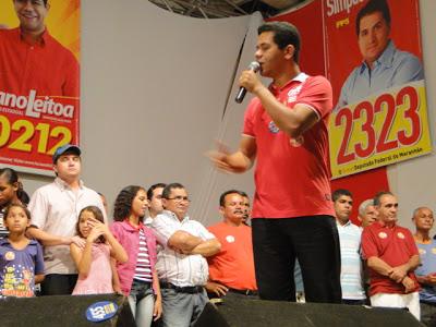 Simplício Araújo participa de mais um mega comício em Timon