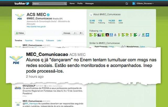 Mec ameaça processar alunos que usaram Twitter no ENEM 2010