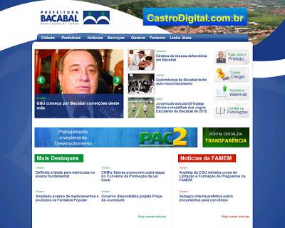 Site da Prefeitura Municipal de Bacabal – MA