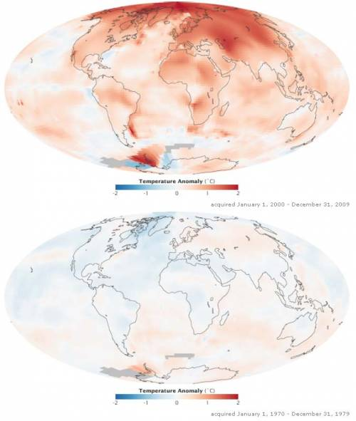Nasa cria mapa do aquecimento global