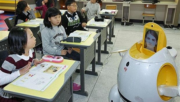 Robôs viram professores na Coreia do Sul