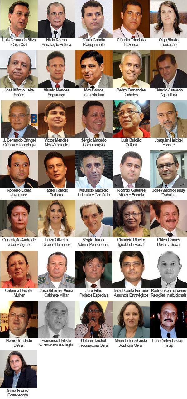 Equipe do governo de Roseana Sarney para 2011
