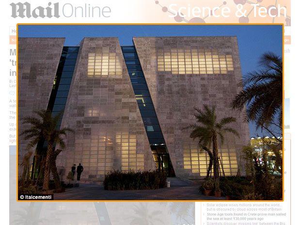 Arquitetos da Itália inventam cimento transparente