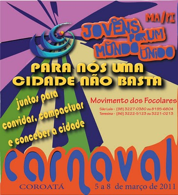 Participe do encontro de carnaval do Movimento dos Focolares