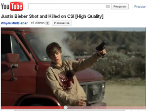 Vídeo do 'assassinato' de Justin Bieber na série CSI