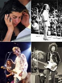 Lista de cantores mortos aos 27 anos – Amy Winehouse não foi sozinha
