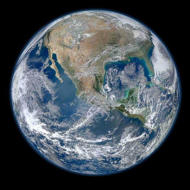 IMAGEM - Foto da Terra em alta definição - Blue Marble 2012 (Bola de Gude Azul ou Mármore Azul)