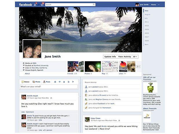 Perfil Timeline do Facebook é obrigatório