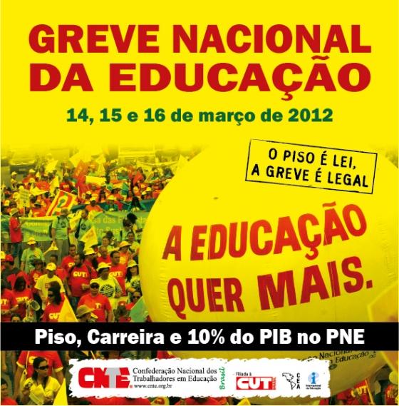 Professores da rede pública realizarão paralisação nacional em março