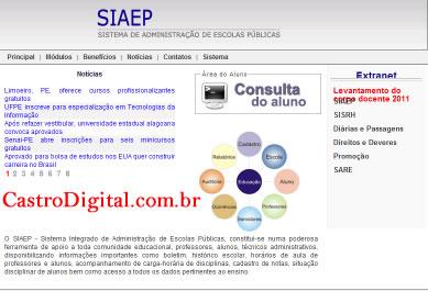IMAGEM - Sistema Integrado de Administração de Escolas Públicas - SIAEP