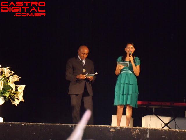 Apresentadores do show de Leonardo Gonçalves em Pedreiras - MA