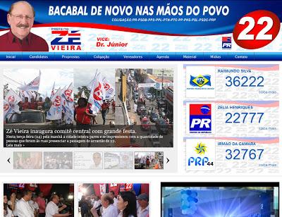 Zé Vieira lança site para campanha a prefeito de Bacabal nas Eleições 2012