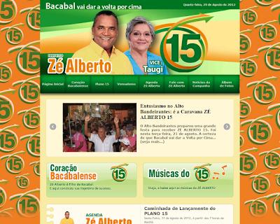 Zé Alberto lança site para campanha a prefeito de Bacabal nas Eleições 2012