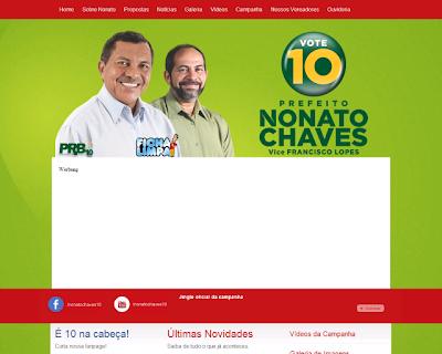 Nonato Chaves lança site para campanha a prefeito de Bacabal nas Eleições 2012