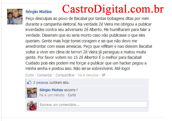 Hacker invade blog e Facebook de blogueiro de Bacabal