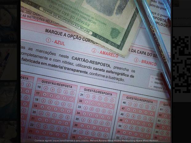 Fotos da prova do ENEM 2012 são publicadas por estudantes na internet