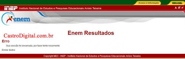 Site de consulta às notas do ENEM 2012 fora do ar, por quê?