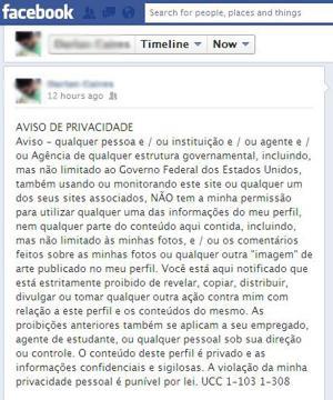 'Aviso de privacidade' publicado por usuários do Facebook é falso, perda de tempo e apenas mais um 'hoax'