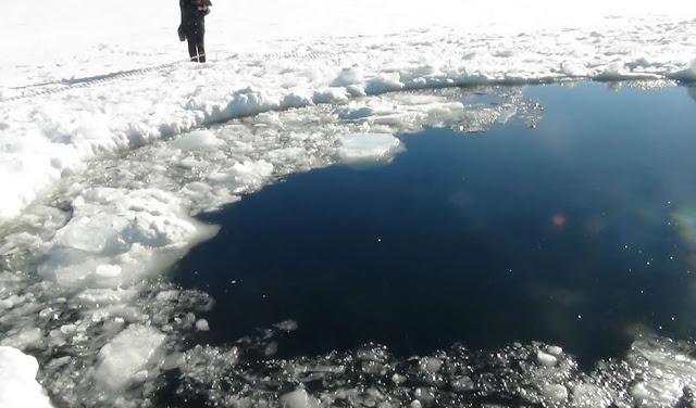 Fotos do meteoro que caiu na Rússia