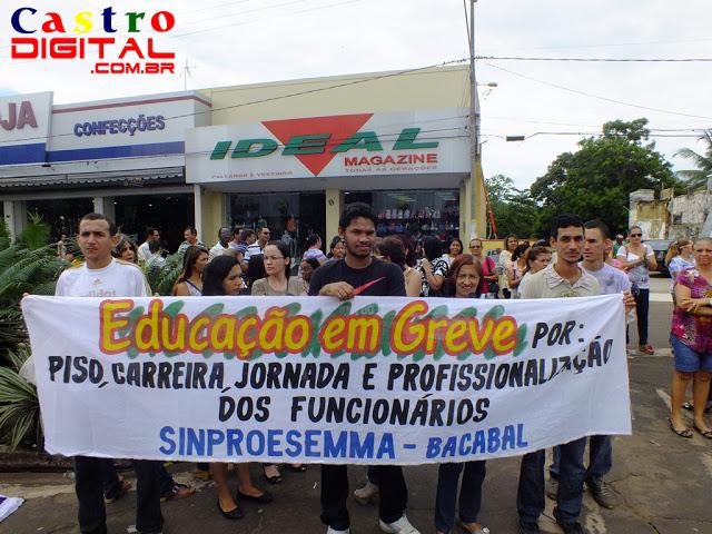 Professores de Bacabal realizam manifestação pública durante paralisação nacional da categoria