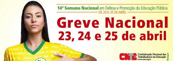 Paralisação nacional da educação acontece dias 23, 24 e 25 de abril de 2013