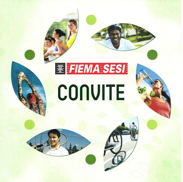 Convite do SESI de Bacabal para evento da Semana de Promoção da Vida Saudável