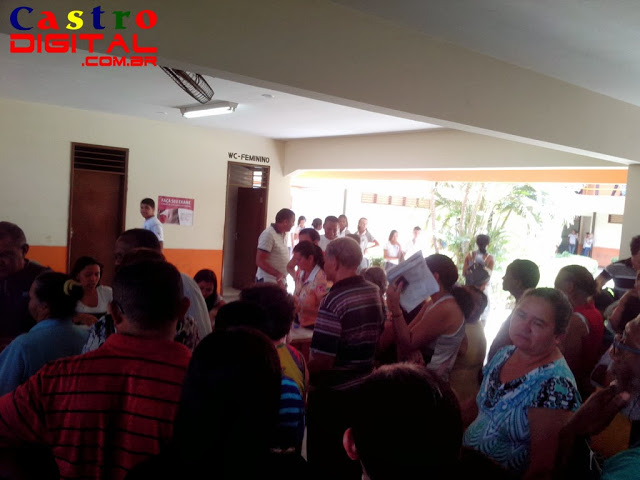 Desorganização e humilhação em Bacabal no início do recadastramento de servidores do Maranhão, veja fotos