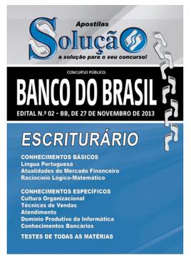Edital do concurso 2013 do Banco do Brasil oferece 8.630 vagas para nível médio