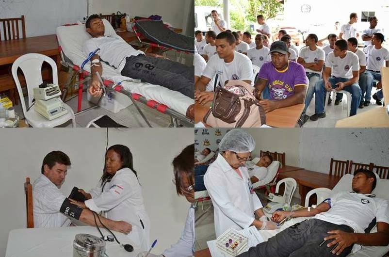 Policiais Militares de Bacabal fazem doação para criação de banco de sangue da corporação
