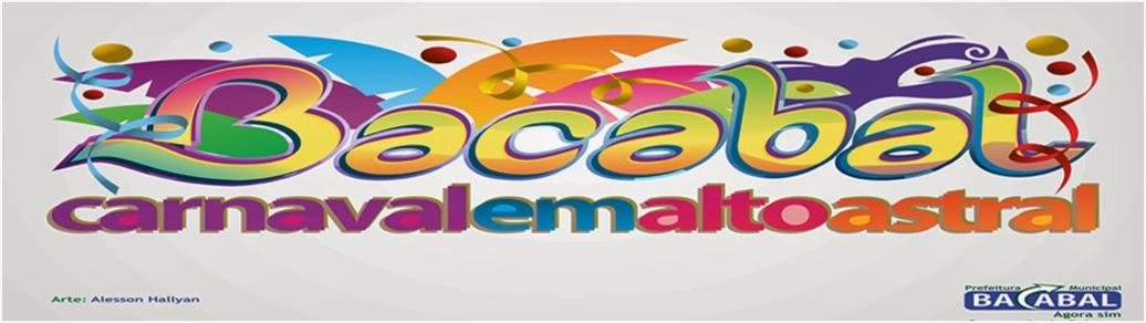 Programação oficial do Carnaval 2014 em Bacabal – MA
