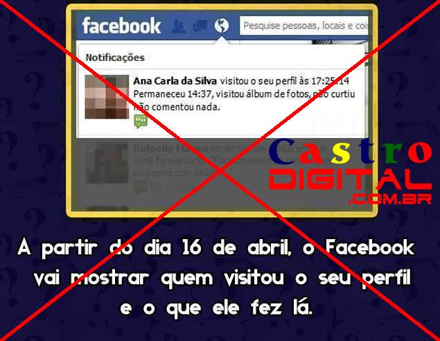 Facebook NÃO vai mostrar quem visitou seu perfil e viu suas fotos