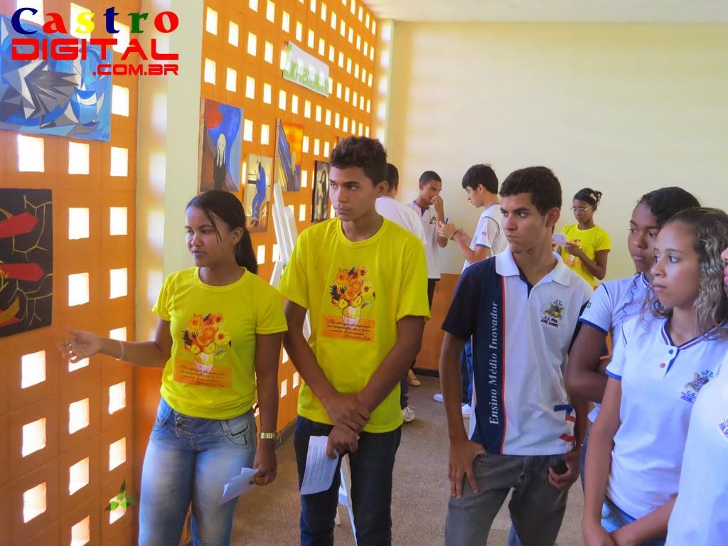 Fotos do Projeto Releitura de Telas das Vanguardas Europeias no Colégio Presidente Sarney em Bacabal – MA