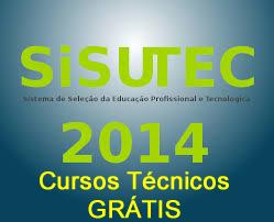 Inscrições para cursos técnicos grátis no SiSUTEC 2014.2