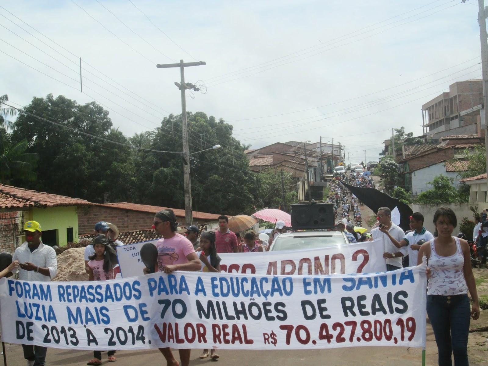 Carta aberta dos professores em greve de Santa Luzia do Tide – MA à população
