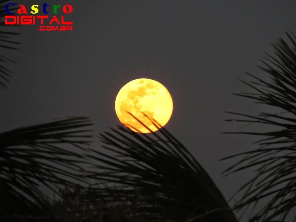 Fotos e vídeo em time-lapse da Superlua cheia nos dias 10 e 11 de agosto de 2014 em Bacabal – MA