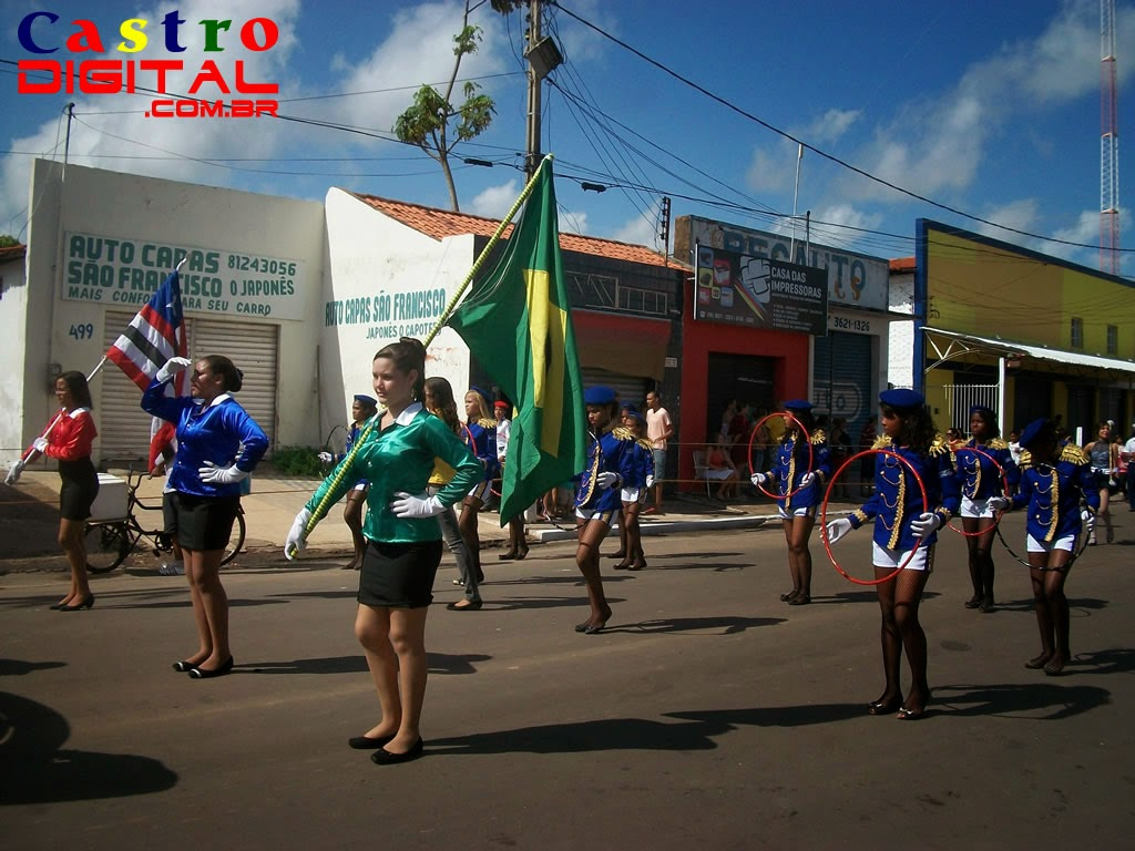 Fotos e vídeos do desfile da independência em Bacabal – MA no dia 7 de setembro de 2014