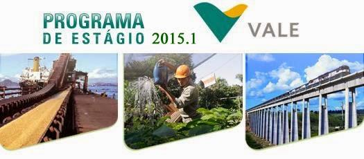 Inscrições para o Programa de Estágio 2015.1 da Vale com vagas em diversos estados do Brasil