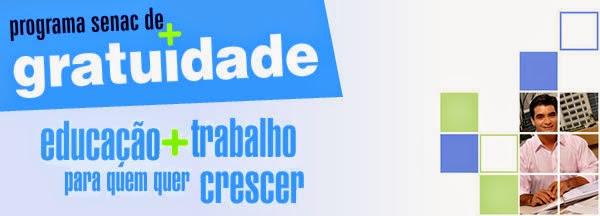 Inscrições para cursos grátis no SENAC de Bacabal – Edital PSG 90/2014