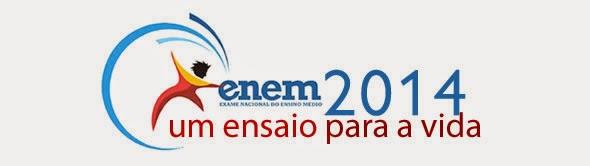 Local de prova do ENEM 2014 e cartão de confirmação de inscrição