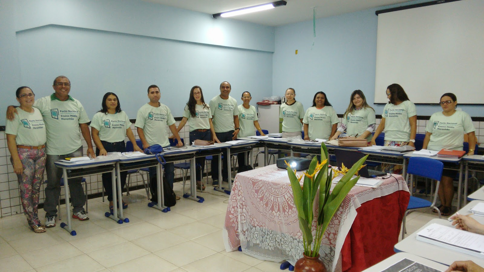 Professores da URE de Bacabal aderem ao Pacto pelo Ensino Médio