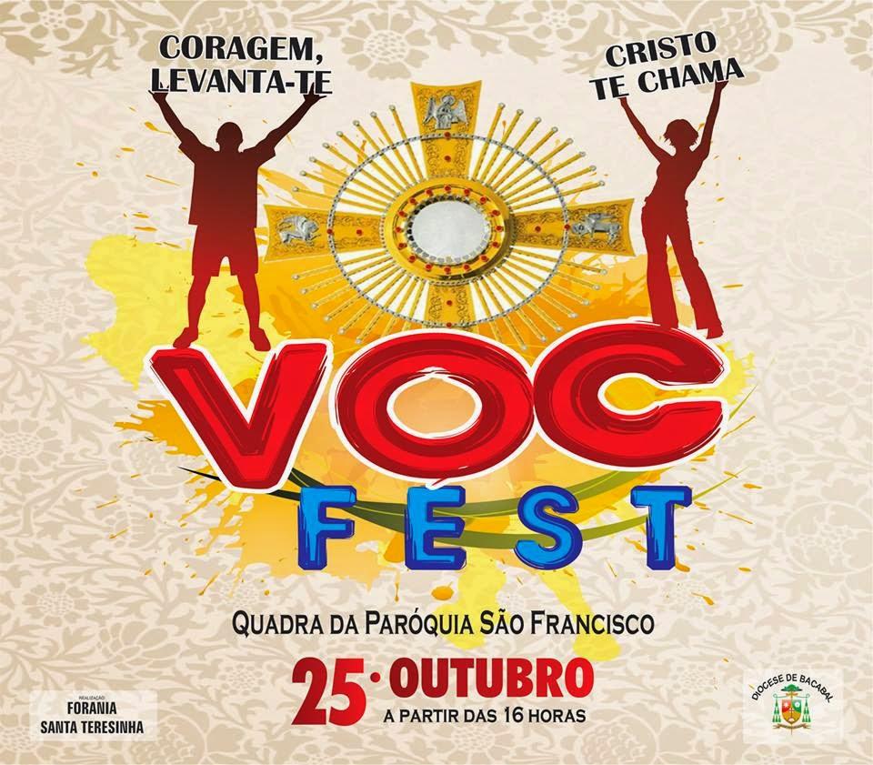 Convite para o VocFest da Diocese de Bacabal