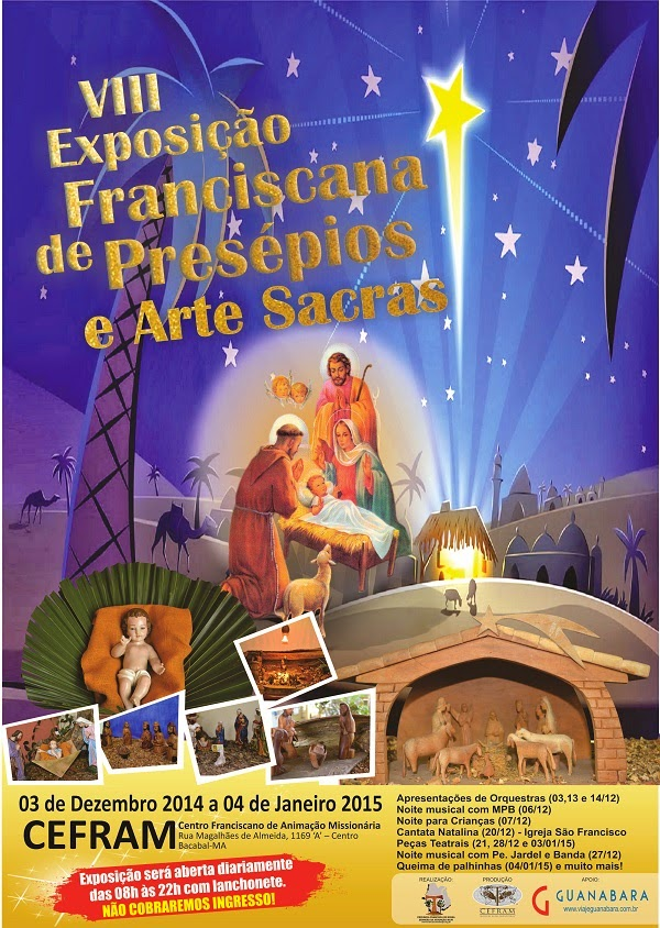 Convite para a VIII Exposição Franciscana de Presépios em Bacabal – MA
