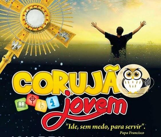 Convite para o Corujão Jovem em Bacabal realizado pela Igreja Católica dia 18 de abril de 2015