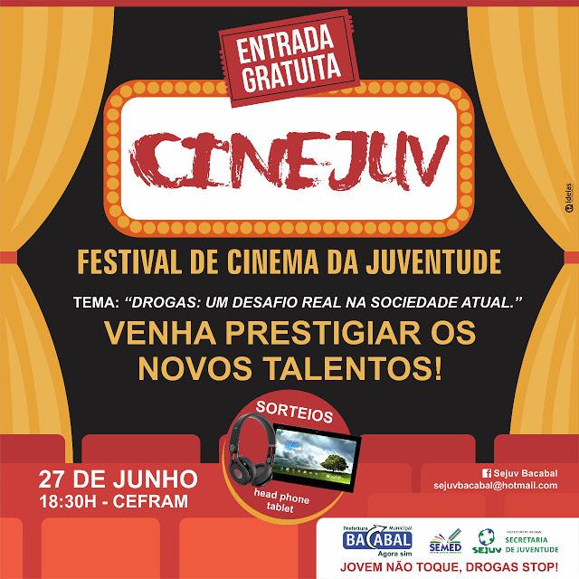 Convite para o Festival de Cinema da Juventude 2015 em Bacabal – MA